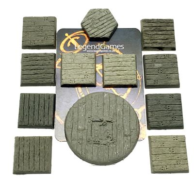 32mm round natural stone finish for RPGs x10 LegendGames figure bases